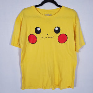 Pikachu Face Short Sleeve T•Size L•